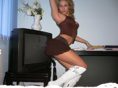 sexy blonde office cutie looks fantastic dresed up