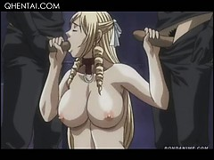 Hardcore Hentai Gangbang With Hottie Sucking Dicks In A Row