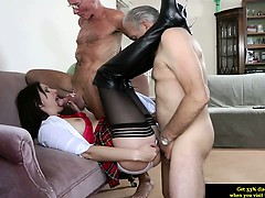 euro-mature-in-stockings-spoils-two-dicks