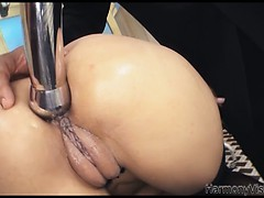 Naughty Latinas Asshole Drilled With Metalic Toys