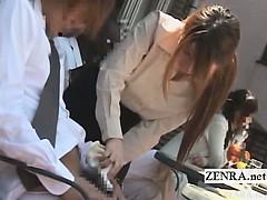subtitled-japanese-public-cafe-erection-wiping-waitress