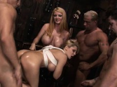 blonde-slut-tied-up-and-gangbanged-on-cement-floor