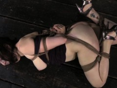 ball-gagged-hogtied-sub-bastinado-with-heel