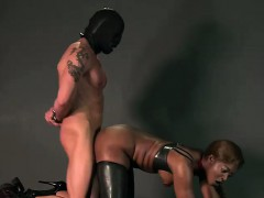 ebony-mistress-spanks-bound-guy-with-gimp-mask