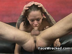pretty-brunette-on-her-knees-gagging-during-face-fucking