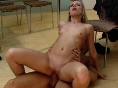 vixenx foxy blonde hires male stripper and fucks him