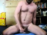 Amateur Guy Riding His Dildo