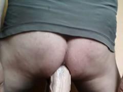 Thick Dildo Deep In My Ass
