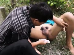 Asian Twinks Enema Outdoors From His Doc