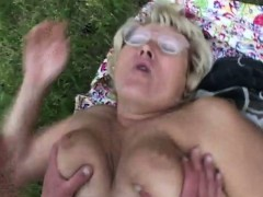 chubby-mature-outdoor