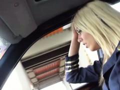 hitchhiker stewardess christen courtney banged in the public