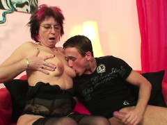 German Mother Seduce Young Boy To Hard Fuck In Her Asshole