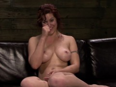 busty-strapon-redhead-frogtied-and-fucked