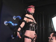 strapped-sex-slave-clipped-and-masturbated
