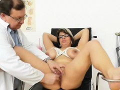 huge-natural-melon-size-breasts-at-obgyn-gynecologist