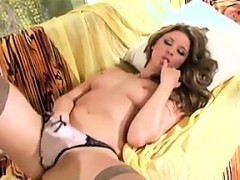 babe-stripping-and-rubbing-her-smooth-pussy