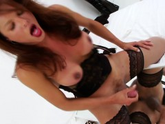 shemale-cums-on-mirror