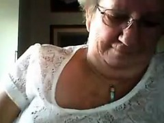 old woman flashing her nice breasts