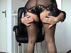 granny-being-a-tease-in-black-lingerie