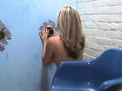 sexy blonde beauty and a glory hole