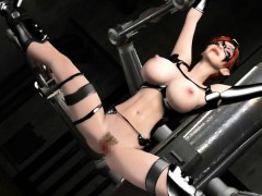 huge titted 3d anime slave gets nailed
