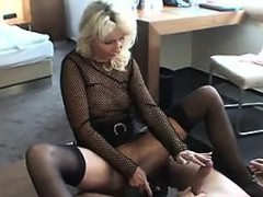 blonde-milf-wearing-lingerie-sucks-cock