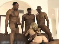Big Jugs Blonde Whore Sarah Vandella Interracial Dp Action