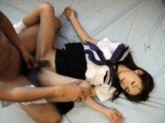 Kaori Mito has snatch fingered and fucked under uniform