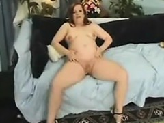 Pregnant Redhead With A Hairy Pussy Fucking