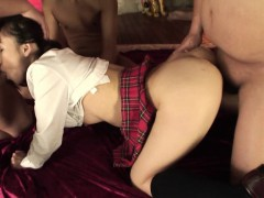 Fucking Fat Guy Bangs A Hot College Asian Slut