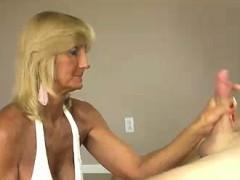 Granny And Stud Recording A Handjob And Tit fuck
