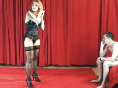 redhead-agent-whore-does-sexy-dance-for-a-beginner-guy