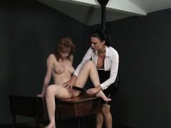 busty-mistress-vibrates-hairy-pussy-sub-in-lezdom