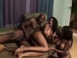 Big Booty Black Ghetto Sluts Sharing Facial In Threesome