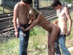 Young Blonde Teen Girl Street Public Sex In Broad Daylight