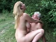 natural-huge-titted-slut-fucks-grandpa-in-the-woods