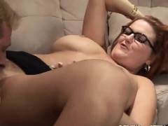 eating-pussy-of-my-redhead-mom
