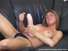 longing for a cock as huge as her gigantic dildo