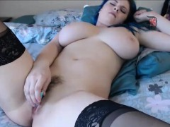bbw-green-hair-in-webcam-chat
