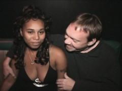 Horny Black Chick Fucks Entire Porno Theater