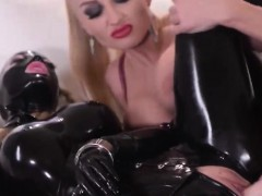 Latex and charmingly hot fetish actions