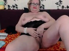 large-granny-teasing-her-body