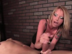 Fetish handjob domination