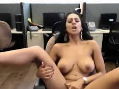 Amateur Indian Wife Masturbates In Stockings In Office