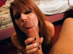 Stunning Doll Blowing Her Bf's Cock – Pov