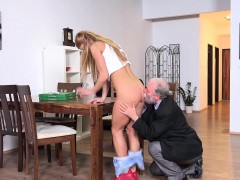 Old Goes Young – Chrissy Fox has the Sweetest Teen Pussy