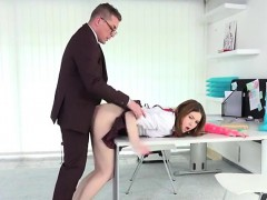 Teen Slut Suzi Gets Bent Over By Her Tutor