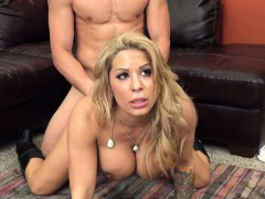 voluptuous blonde cougar alyssa lynn feeds her desire for young meat