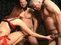 mistress-ties-up-her-two-slaves-and-uses-a-whip-on-their-nu