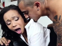 cute ebony bitch adrian maya drilled during job interview